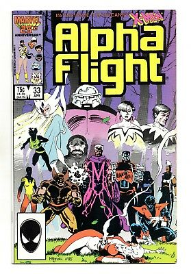 Alpha Flight Vol 1 No 33 Apr 1986 (VFN+) Marvel, 1st app of Lady Deathstrike