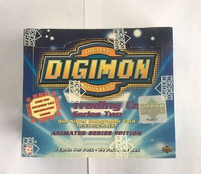 VINTAGE 2000 Digimon Animated Series Ed. SERIES 2 Booster Box Factory Sealed