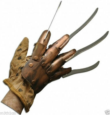 Freddy Kreuger Nightmare Toy Razor Glove Hand Claw Prop Costume Accessory Claws