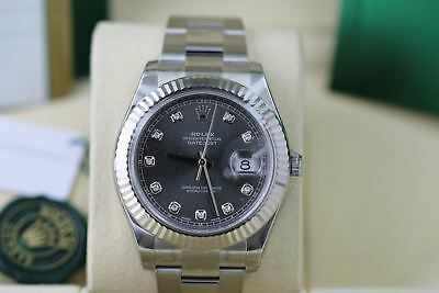 Brand New Rolex DATEJUST 2 Rhodium Diamond Dial 116334 41mm