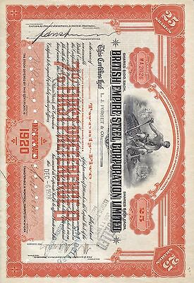 Stock Cert.: 1928, Canada, Punch Cancel, See Remart (S7258)