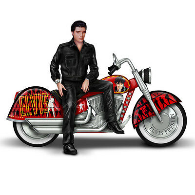 Elvis Riding with the King Motorcycle  Figurine - Bradford Exchange