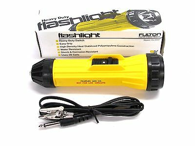 NOS! FULTON WATER & CORROSION RESISTANT FLASHLIGHT w/ CONTINUITY TESTER, #905