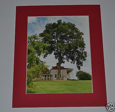 """GREGORY HUGH LENG MATTED PHOTOGRAPH PROOF SIGNED """"Washington's Mt. Vernon"""" 5x7"""