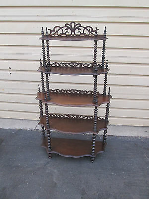 55156  Antique Victorian Mahogany  Etergie Curio Cabinet Shelf