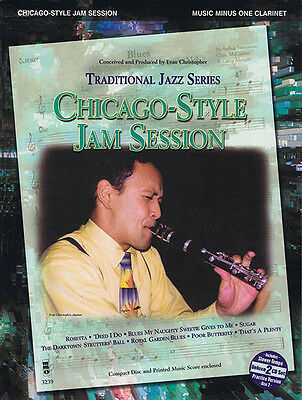Chicago-Style Jam Session Clarinet Jazz Sheet Music Minus One Play-Along Book CD