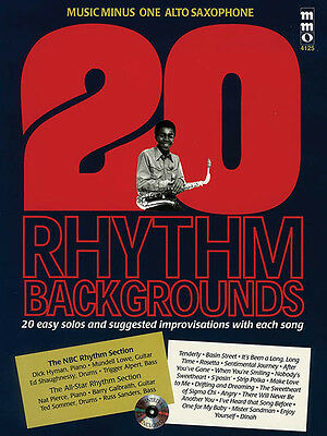 20 Rhythm Backgrounds for Alto Sax Jazz Sheet Music Minus One Play-Along Book CD