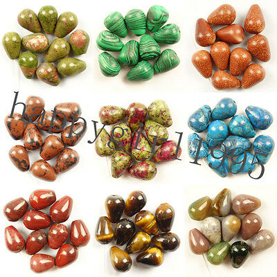 14x10mm Mixed Gemstone Teardrop Pendant Beads Choose Your Like Stone HH3