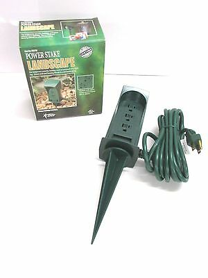 Nos! Coleman Cable Power Stake Landscape Outlets, #5776