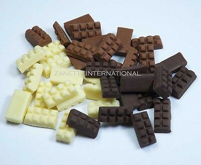 10x Mixed Chocolate Bar Dollhouse Miniature Food Candies Sweet Barbie Doll Tiny
