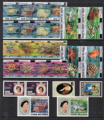 COOK IS 1983 Surchared CORAL ROYAL Stamps Set SG884-913 30v REF:QE888