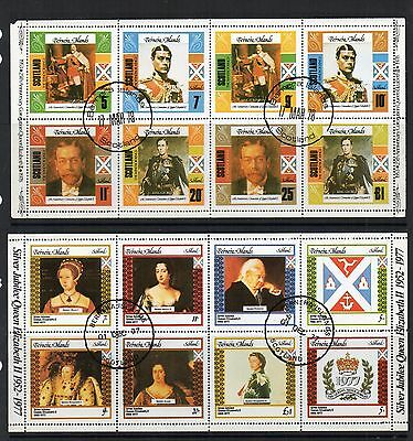 GB Scotland LOCAL Issues 1977 BERNERA Is KING  QUEEN Stamps 2 Sheetlets RE:QE887