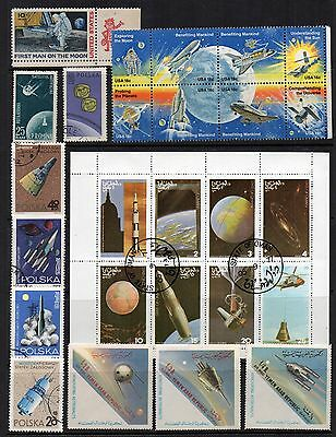 SPACE  Thematic Stamp COLLECTION QEII Mint Used REF:TS258