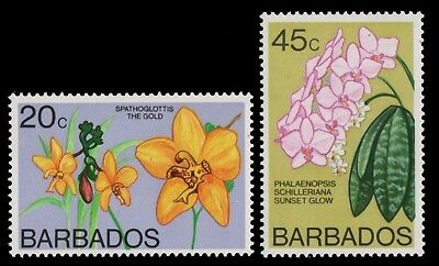 Barbados 1977 - Mi-Nr. 420-421 X ** - MNH - Orchideen / Orchids