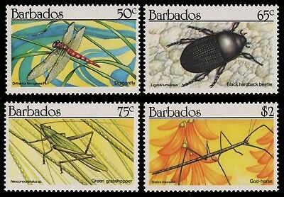 Barbados 1990 - Mi-Nr. 759-762 ** - MNH - Insekten / Insects