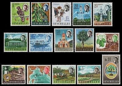 BIOT 1968 - Mi-Nr. 1-15 ** - MNH - Freimarken / Definitives