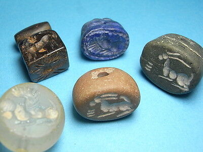 Interesting Collection Of 5 Varied Egyptian Victorian 'Grand Tour' Seals. (A998)