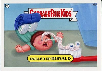 Garbage Pail Kids Mini Cards 2013 Base Card 40b Rolled Up RONALD