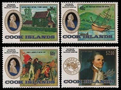 Cook-Inseln 1984 - Mi-Nr. 1010-1013 ** - MNH - Schiffe / Ships - Captain Cook