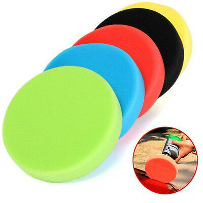 "5x Flat Car Polishing Foam Buffing Sponge Pad Kit for Car Polisher 3/4/5/6/7"" IN"