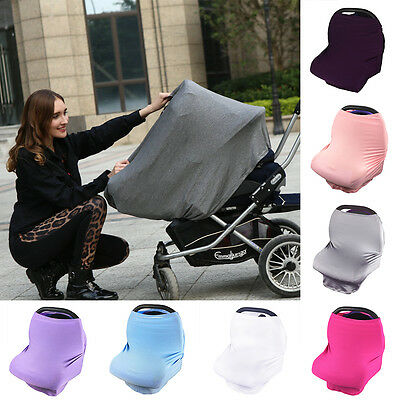 Multi-Use Infant Nursing Cover Kid Baby Cart Car Seat Canopy Breastfeeding Scarf