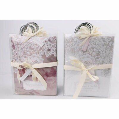 Fragranced Hanging Wardrobe Laced Sachets Fresh Linen Or Orange Blossom Gift