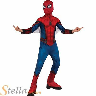 Boys Spiderman Homecoming Costume Superhero Fancy Dress Child Kids Outfit