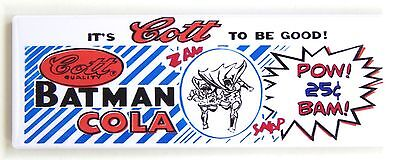 8711abfce65 BATMAN COLA FRIDGE MAGNET (1.5 x 4.5 inches) soda sign robin -  7.99 ...
