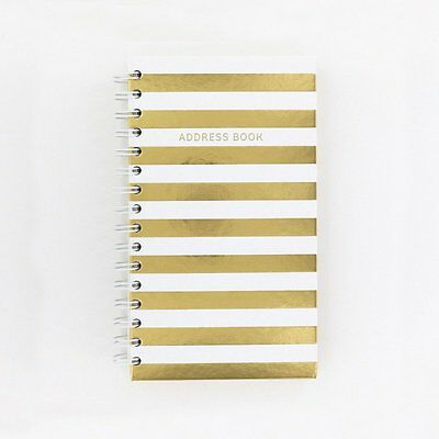 Cream & Gold Stripes A-Z Name Addresses Telephone Number Address Record Book