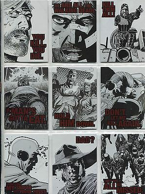 The Walking Dead Comics Series 2 Complete Quotable Chase Card Set QTB1-9
