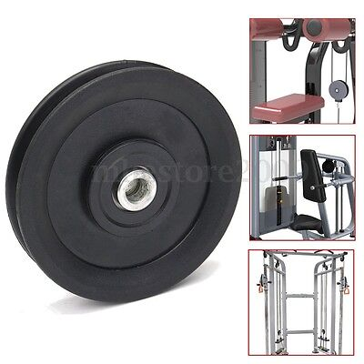 """4.5""""/115MM Universal Nylon Bearing Pulley Wheel Cable Gym Fitness Equipment Part"""