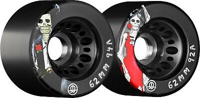 Rollerbones Rollerskate Wheels - Day of the Dead - Pack Of 4 / 62mm
