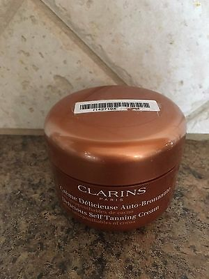 Clarins DELICIOUS SELF TANNING CREAM  4.5 oz New, sealed, NO BOX