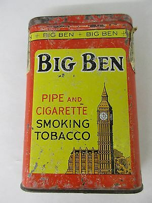 Vintage Advertising Big Ben Clock Tobacco  Vertical Pocket Tobacco Tin 145-K
