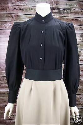 FRONTIER CLASSICS Victorian Black Victoria Blouse Steampunk Dickens SASS