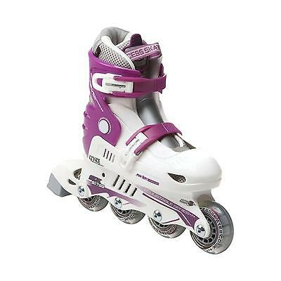 Xcess MX S780 White Purple Kids Adjustable Inline Skates