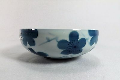 Fine Japanese Blue & White Bowl Hand Painted & Signed