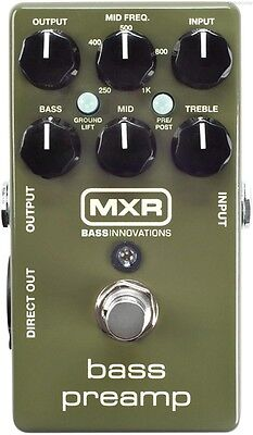 USED DUNLOP MXR M81 BASS PREAMP DIRECT BOX PEDAL w/ FREE CABLE 0$ US SHIPPING