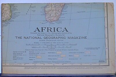 1943 National Geographic Map of Africa