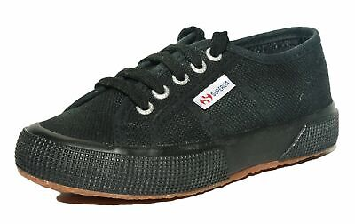 Superga Kids Girls Boys 2750 Jcot Classic Full Black Woven Canvas Shoes