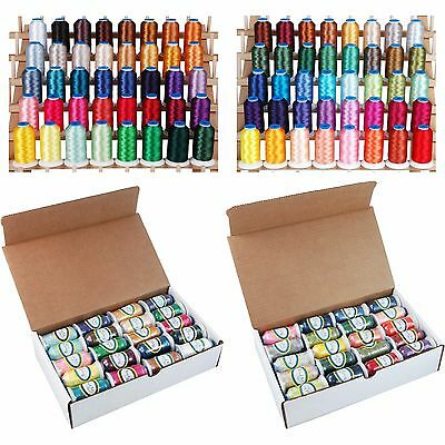 Machine Embroidery Polyester Thread Set A&b - Big 1000M Cones - 80 Colors -40Wt