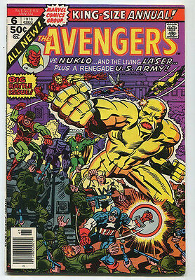 The Avengers #6 VF King Size ANNUAL Nuklo  All New    Marvel CBX39B