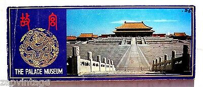 VINTAGE 1970 -1980s China Postcards Booklet (The Palace Museum ) 12 Cards