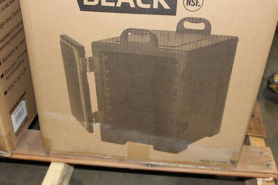 """CaterGator 16 3/4"""" x 24"""" x 25"""" Black Front Loading Insulated Food Pan Carrier"""