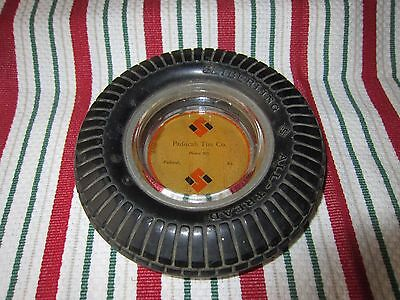 Vintage Advertising Seiberling Tire Ashtray Paducah Tire Co Phone 505 Paducah Ky