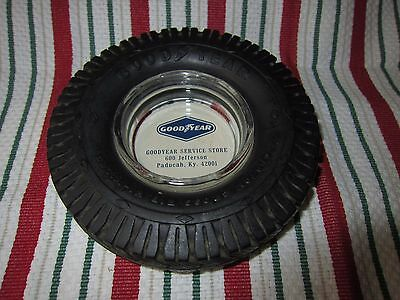 Vintage Advertising Goodyear Tire Ashtray Goodyear Service Store,  Paducah Ky