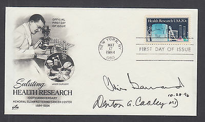 Dr Christian Barnard & Dr Denton Cooley, Pioneering heart surgeons, signed FDC