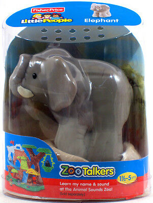 Fisher-Price Little People ZOO TALKERS ELEPHANT Interactive sounds NEW