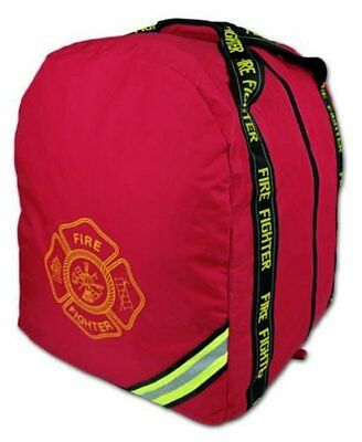 Red Deluxe Fireman Firefighter Boot-Style Turnout Step In Bunker Gear Bag