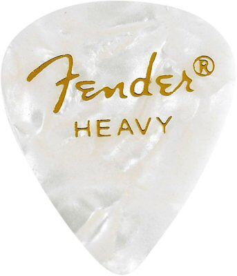 Fender 351 Premium Celluloid Guitar Picks - WHITE MOTO, HEAVY 144-Pack (1 Gross)